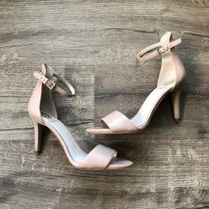Vince Camuto Nude Court Ankle Strap Heel Sandal